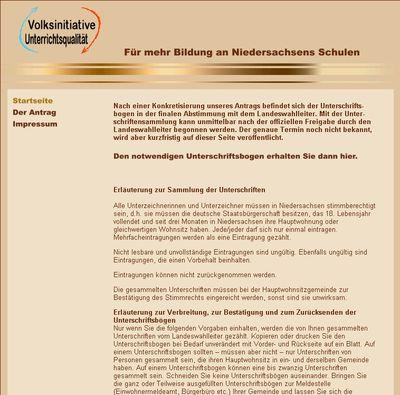 Webseite Volksinitiative