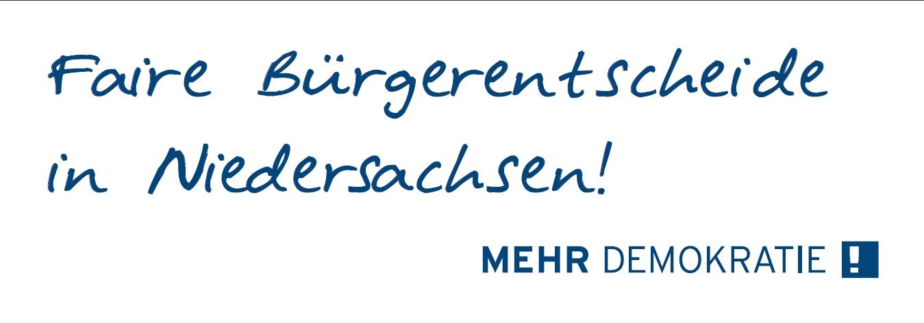 Logo von Faire Bürgerentscheide in Niedersachsen